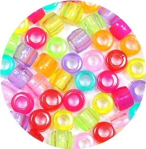 Transparent Barrel Bead Mix 50 Pieces