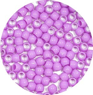 Lavender 7x6mm Pony Beads 50 Pieces