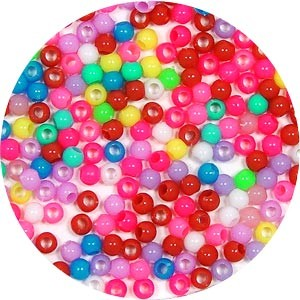 4mm Round Acrylic Beads Pick Your Colors 100 Pieces