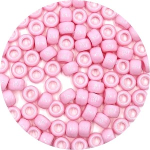 Pink 9x6 mm Pony Beads 50 Pieces