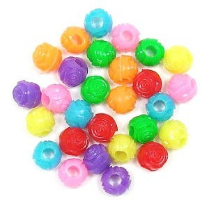 Rose Pony Beads Pick Your Color