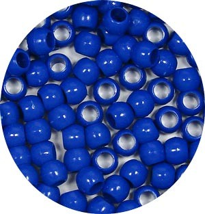 Royal Blue 7x6mm Pony Beads 50 Pieces