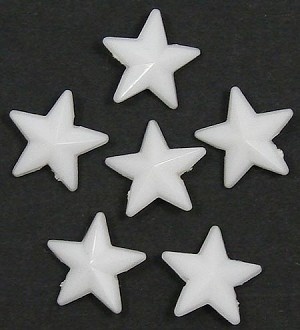 White 16x16 Faceted Star Beads 20 Pieces