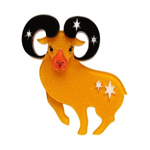 Aries The Achiever Brooch By Erstwilder