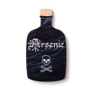 Arsenic Bottle Brooch By Martinis & Slippers - Coming Soon!