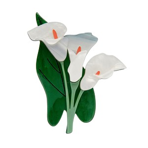 Beauty Blooms Calla Lily Brooch By Erstwilder