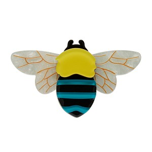 To Bee Or Not To Bee Blue-Banded Bee Brooch By Erstwilder