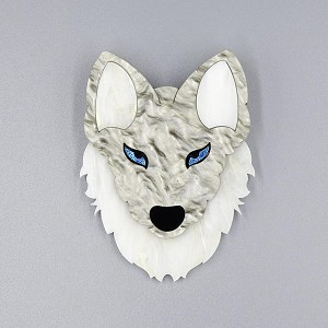 Brother Wolf Brooch By Tantalising Treasures