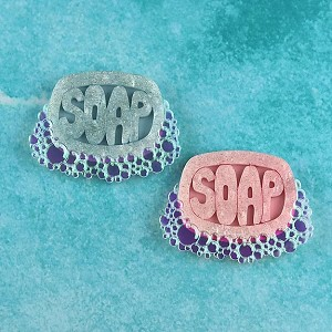 Bubbly Soap Brooch By Gory Dorky