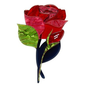 Budding Romance Rose Brooch By Erstwilder