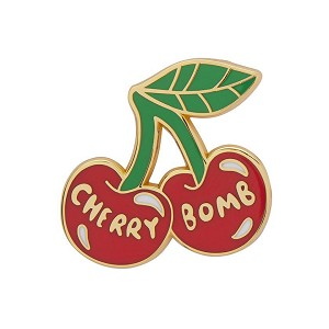 Cherry Bomb Enamel Pin By Erstwilder