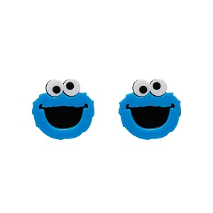 Cookie Monster Sesame Street Earrings By Erstwilder