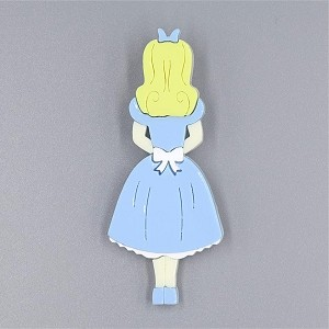 Curious Alice Brooch By Tantalising Treasures