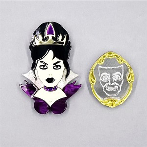 Evil Queen And Magic Mirror Brooch Set By Tantalising Treasures