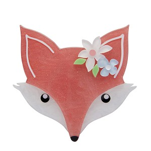 Flora Fox Face Brooch By Erstwilder Fan Favorite