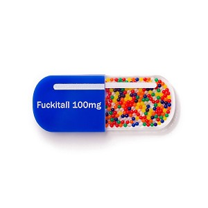 F*$kitall Pill Brooch By Martinis & Slippers