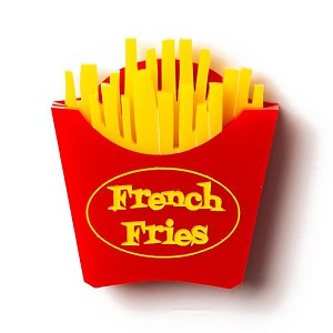 French Fries Brooch By Martinis & Slippers