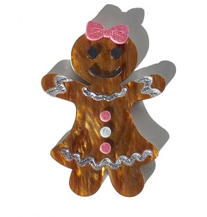 Gertrude The Gingerbread Lady Pin By Tantalising Treasures - Last One