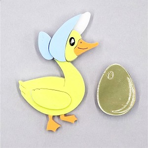 Hilda The Magical Goose And Golden Egg Brooch Set By Tantalising Treasures