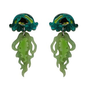 Slippin Under Jellyfish Earrings By Erstwilder Fan Favorite