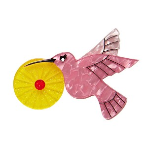 The Humble Hummingbird Brooch By Erstwilder Fan Favorite 2019 Pink Yellow