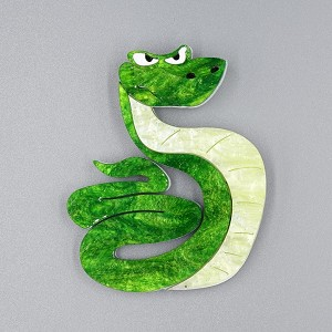 Kaa The Serpent Brooch By Tantalising Treasures