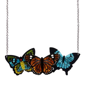 Kaleidoscope Of Color Butterfly Necklace By Erstwilder