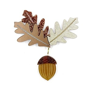 Acorn Brooch By Kimchi And Coconut