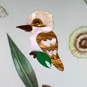 Kendra The Kookaburra Brooch By Tantalising Treasures