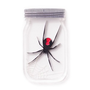Killer Red Back Spider Jar Brooch By Martinis & Slippers
