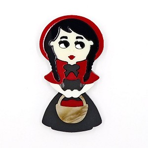 Little Red Riding Hood Brooch By Tantalising Treasures