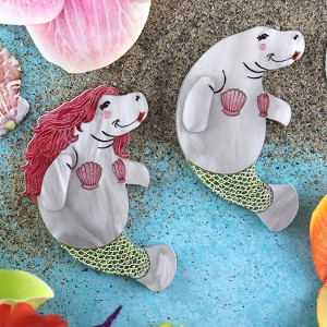 Manatee Mermaid Brooch By Gory Dorky