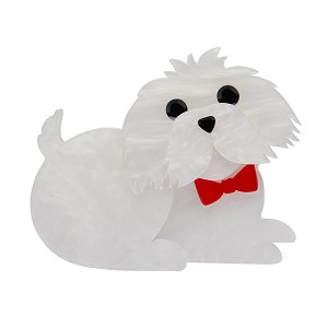 Marc The Maltese Dog Brooch By Erstwilder Fan Favorite