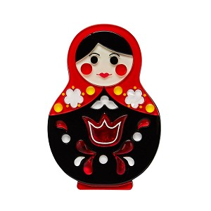Matryoshka Memories Toy Brooch By Erstwilder