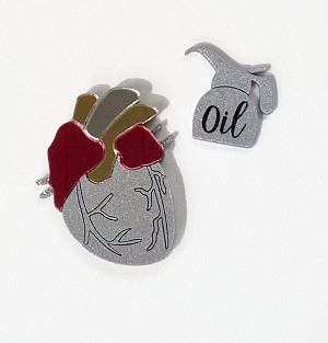 Missing Heart Brooch Set By Tantalising Treasures