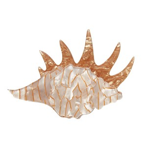 A Mobile Home Seashell Brooch By Erstwilder