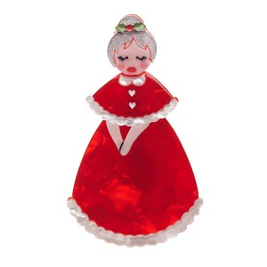 Mrs. Claus Brooch By Erstwilder