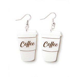 Coffee Earrings By Martinis & Slippers