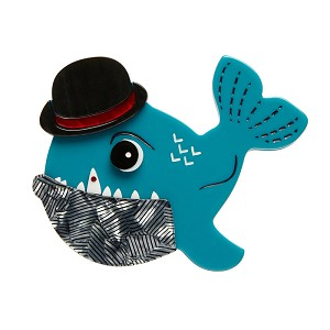 Pedro The Piranha Brooch By Erstwilder