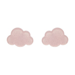 Pink Cloud Glitter Resin Earrings By Erstwilder