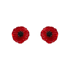 Poppy Field Earrings Red By Erstwilder