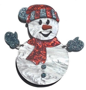 Sam The Snowman Pin By Tantalising Treasures