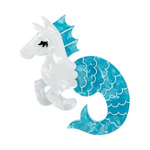 Sea Biscuit Hippocampus Brooch By Erstwilder
