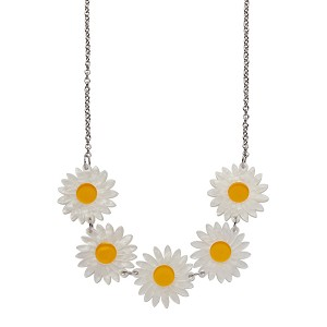She Loves Me Daisy Necklace By Erstwilder