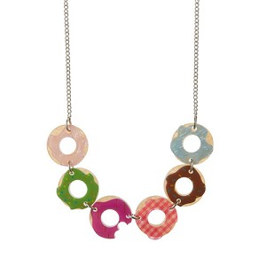 Six Sugar Bagel Bunch Donut Necklace By Erstwilder