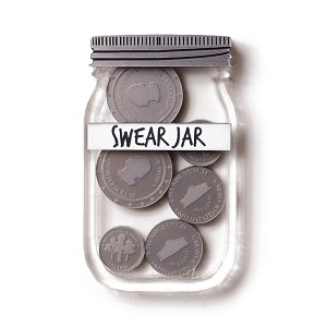 Swear Jar Brooch By Martinis & Slippers