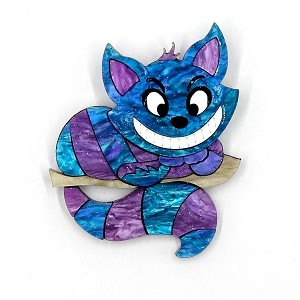 Cheshire Cat In A Tree Brooch By Tantalising Treasures