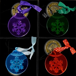 Christmas Ornament Brooches By Tantalising Treasures - FREE Goodie! SOLD OUT