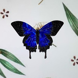 Ulysses Butterfly Brooch By Tantalising Treasures