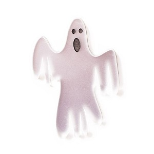 VERY Scary Ghost Frosted Mirror Brooch By Martinis & Slippers